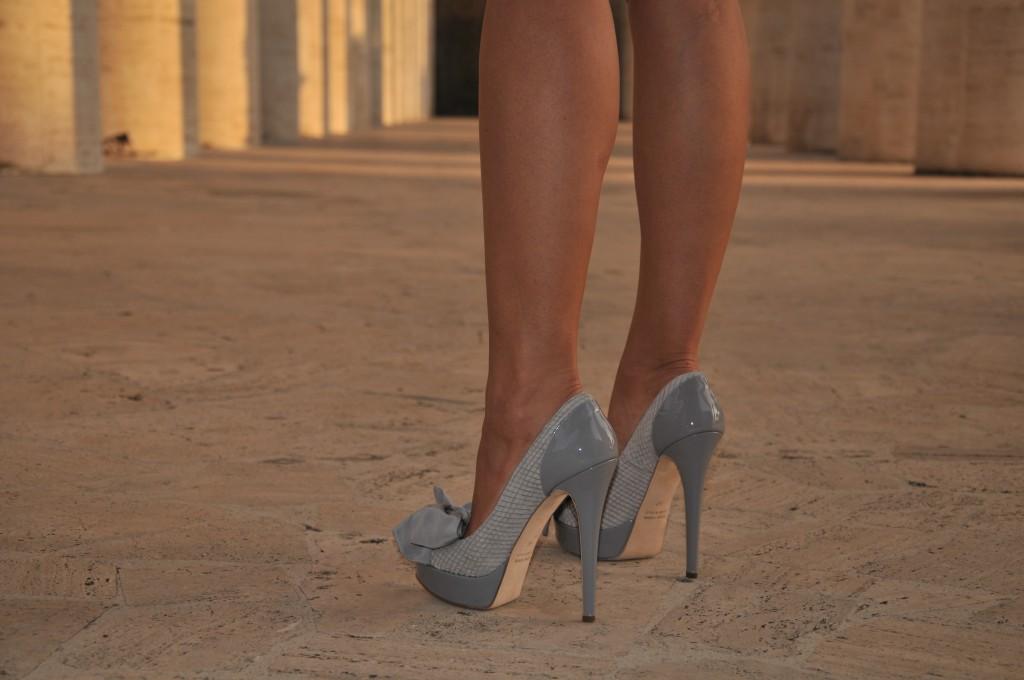 Scarpe Tacco Indossate