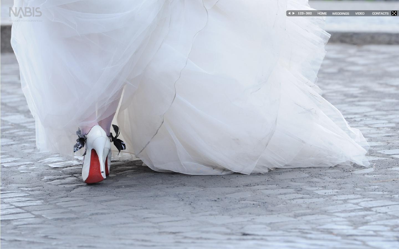 Scarpe blu d'epoca da sposa