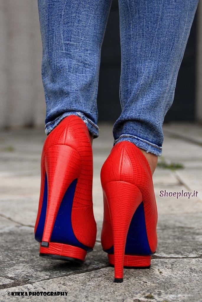 blue soles high heels