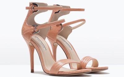 Sandali con doppio cinturino in finta pelle