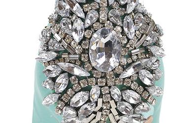 Scarpe gioiello azzurro Tiffany