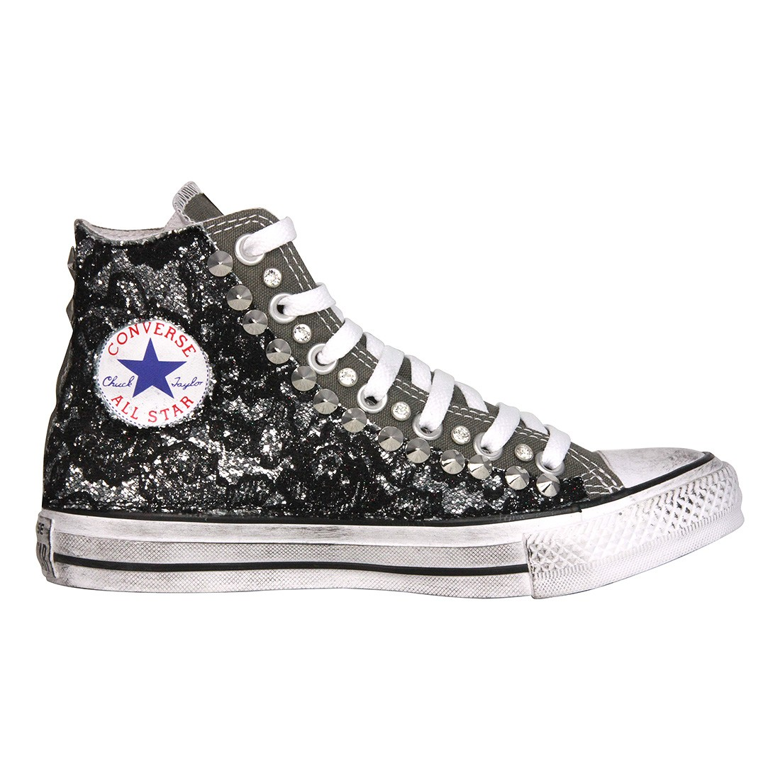 converse nere paillettes. Black Bedroom Furniture Sets. Home Design Ideas