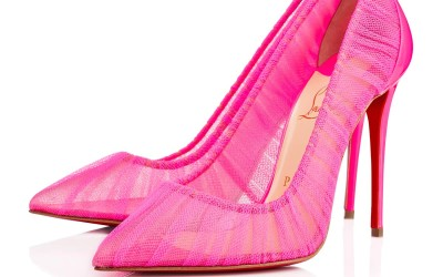 Christian Louboutin hot pink tulle pumps