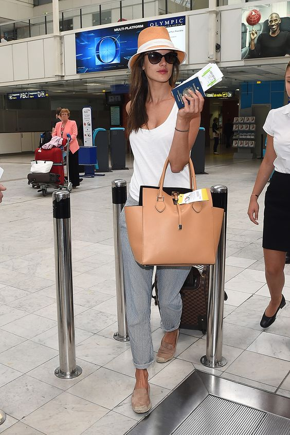 NICE, FRANCE - MAY 23: Alessandra Ambrosio is seen arriving in Nice for the 67th Annual Cannes Film Festival on May 23, 2014 in Nice, France. (Photo by Jacopo Raule/GC Images,)