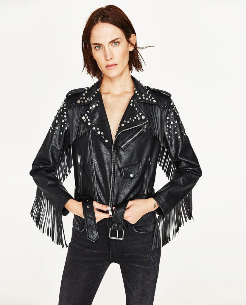 giacca in pelle zara