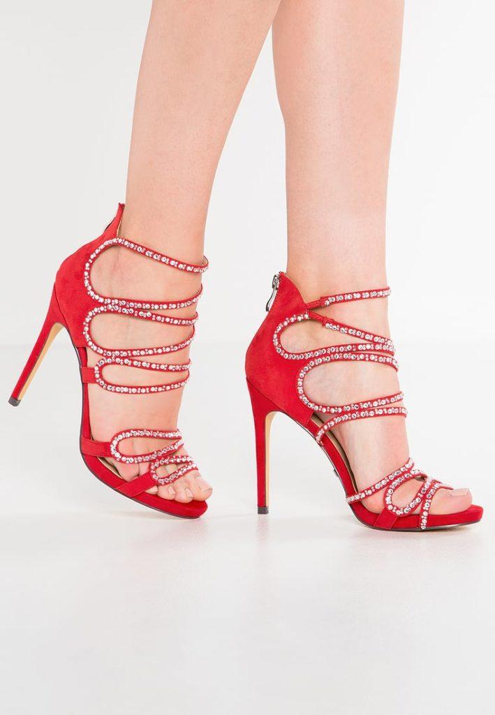 sandali gioiello rossi