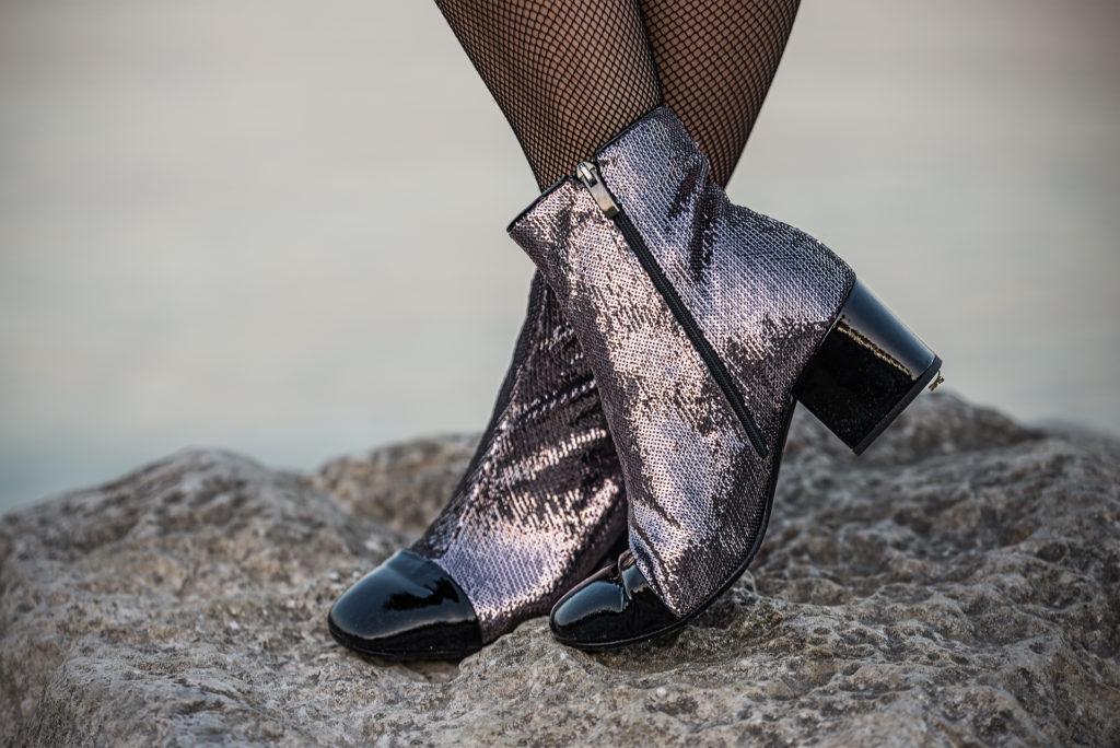 ankle boots paillettes
