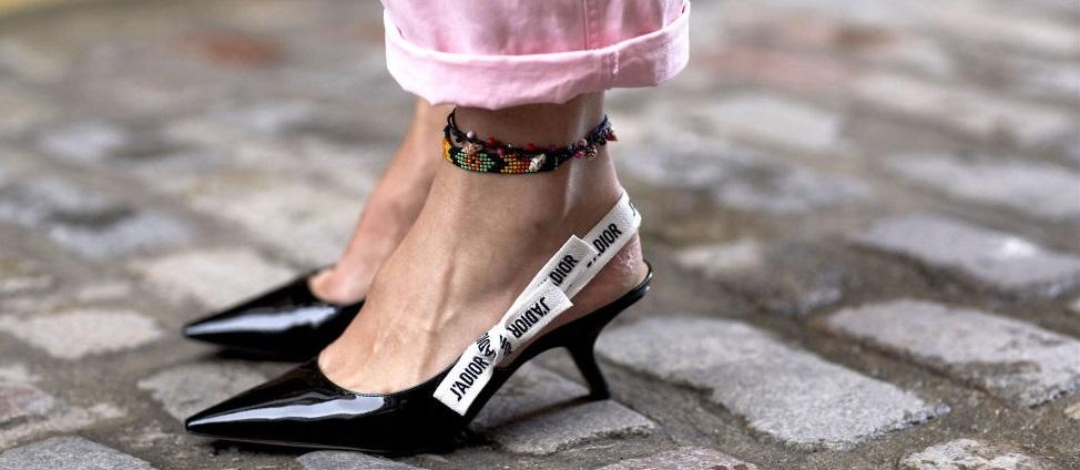 slingback kitten heels