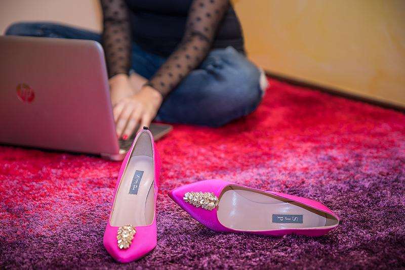 scarpe fucsia tacco