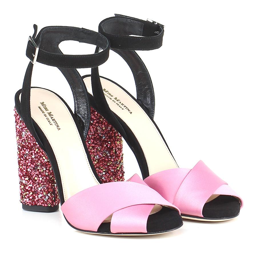 sandali glitter rosa