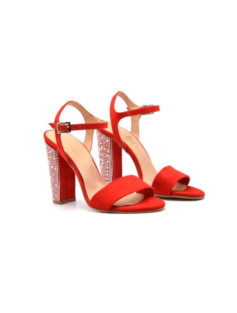 sandali rossi gioiello