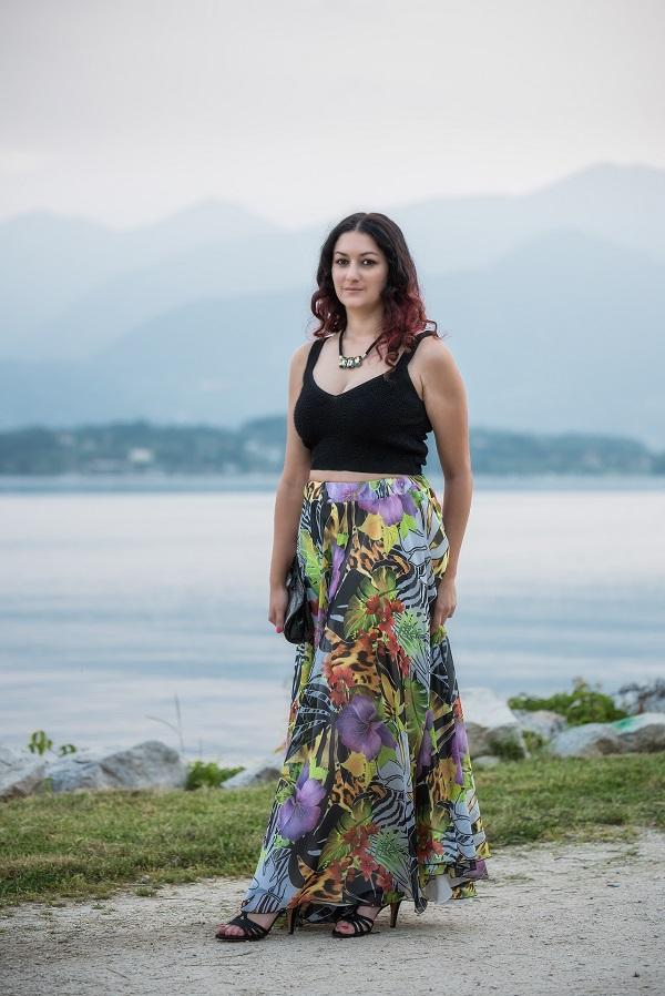 outfit fashion blogger lago di garda