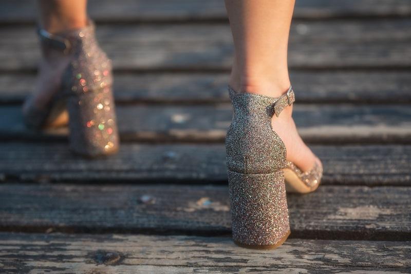 sandali glitter comodi