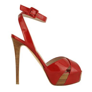 sandali le silla rosso lucido tacco alto