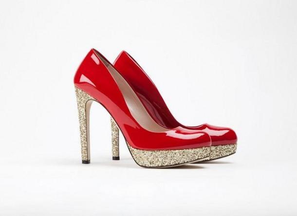 scarpe rosse lucide glitter de siena