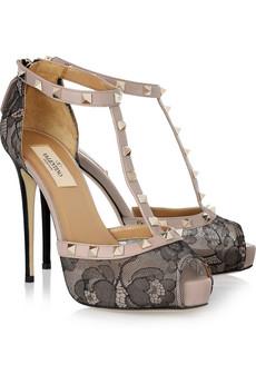 scarpe pizzo borchie valentino
