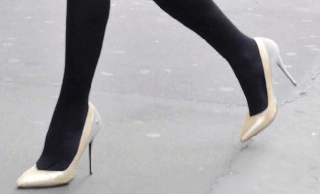 federica panicucci piedi scarpe tacchi a spillo