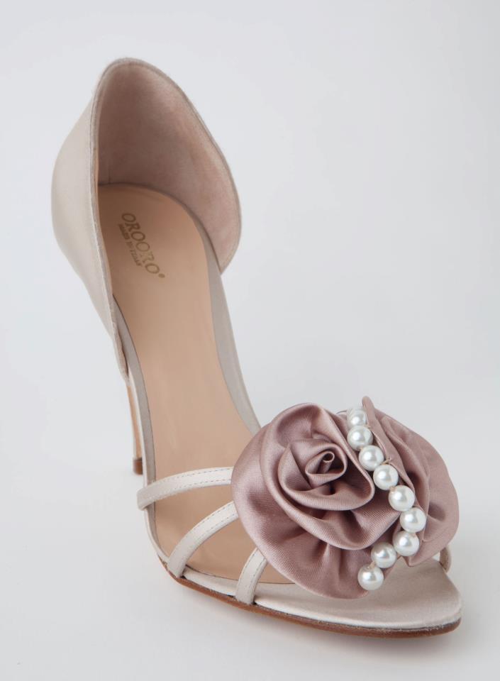 scarpe da sposa oronzo de matteis desiderium perle