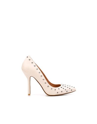 scarpe zara borchie bianche