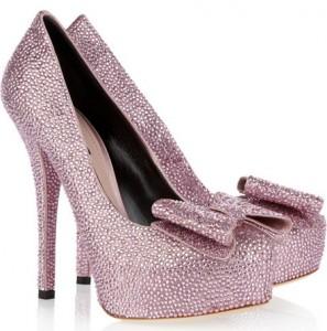 scarpe dolce e gabbana strass rosa
