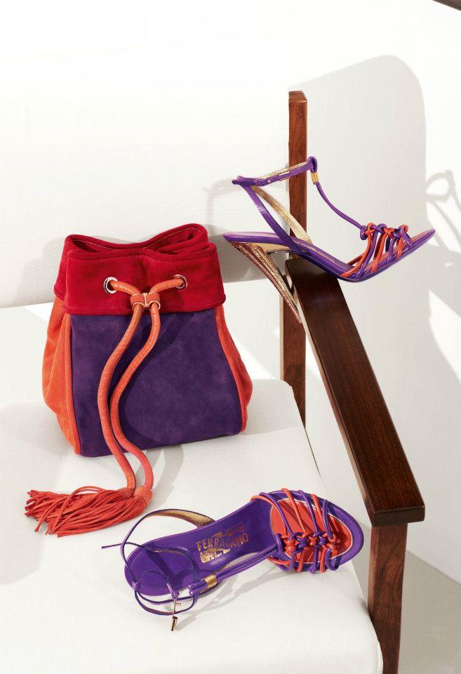 sandali e borse ferragamo 2012