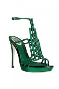 caovilla fall 2012 green heel sandalo verde