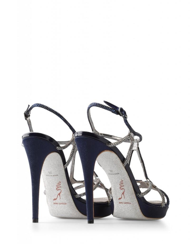 sandali gioiello caovilla blu da sposa estate 2012