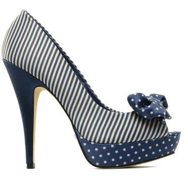 scarpe pois righe