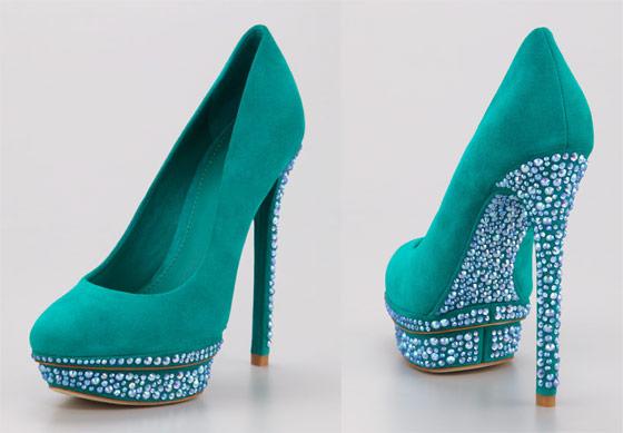 scarpe suola cristalli gioiello low cost