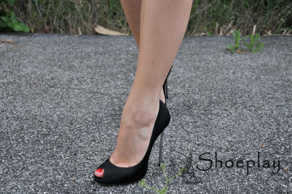 casadei blade heels worn