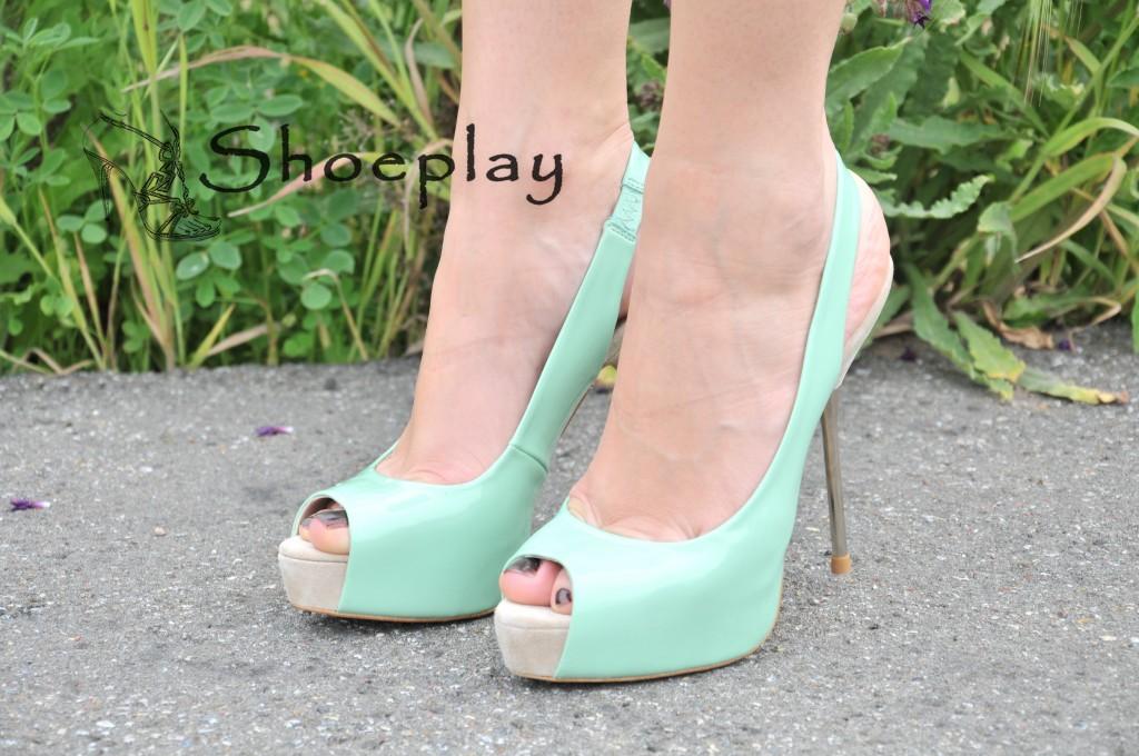 sandali tacco cromato zara 2012 verde menta
