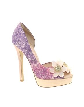 scarpe altissime glitter rosa