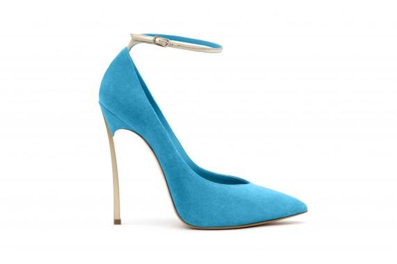 scarpe casadei blade tacco a spillo azzurro cinturino primavera 2013
