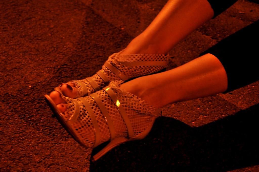 leggings ankle boot tacco alto