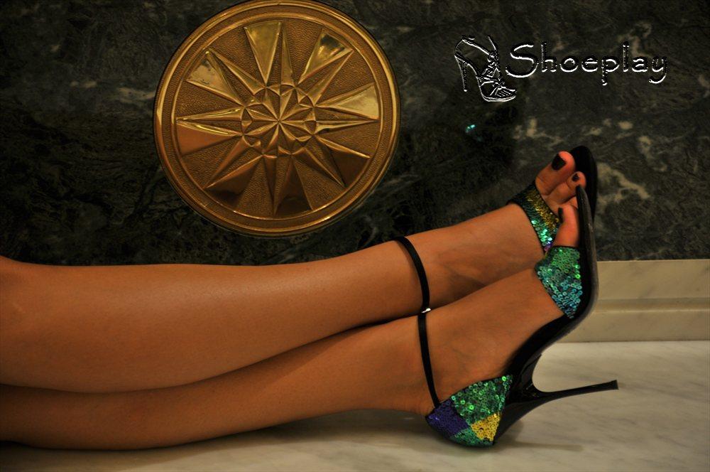 sandali zanotti tacco alto indossati