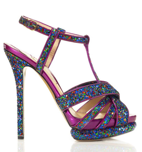 kirkwood glitter heel sandali glitter viola