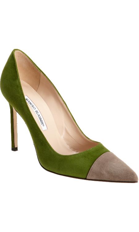 manolo blahink scarpe verdi 2013