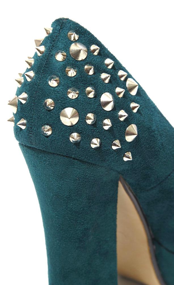 scarpe verdi con le borchie low cost