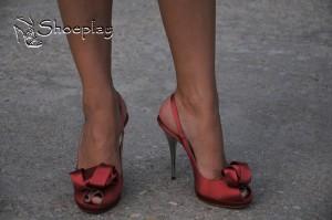 sandali in raso gianni marra indossati tacco alto
