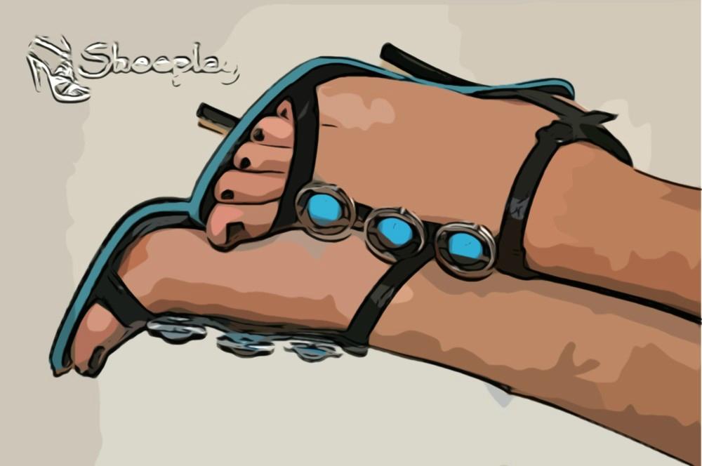 scarpe tosca blu