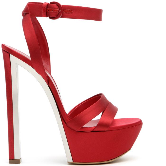 sandalo rosso fuoco casadei tacco altissimo fetish 2013
