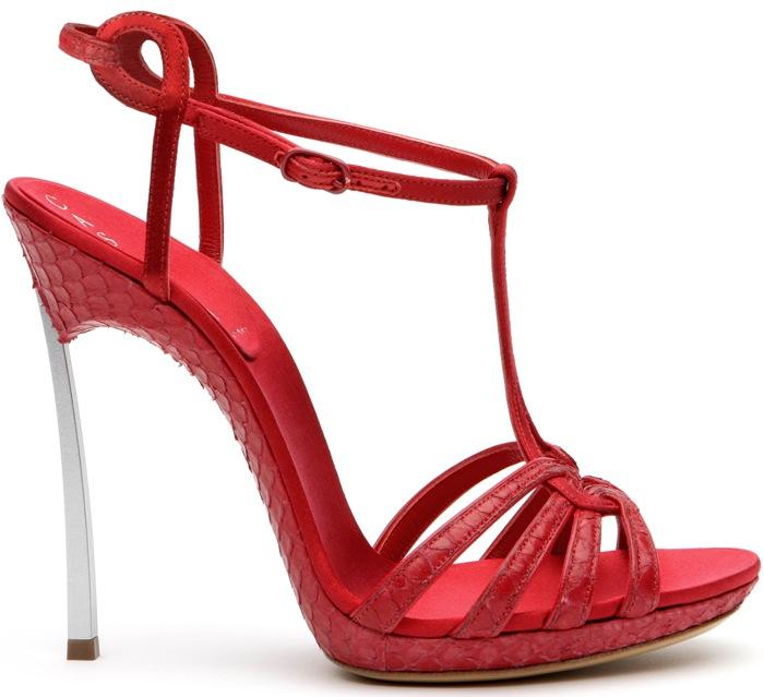 sandali casadei rosso fuoco tacco blade 2013