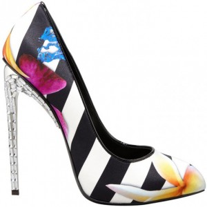 zanotti scarpe decolletè colorate righe fiori tacco gioiello 2013