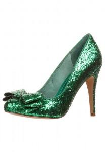 scarpe glitter verde smeraldo low cost