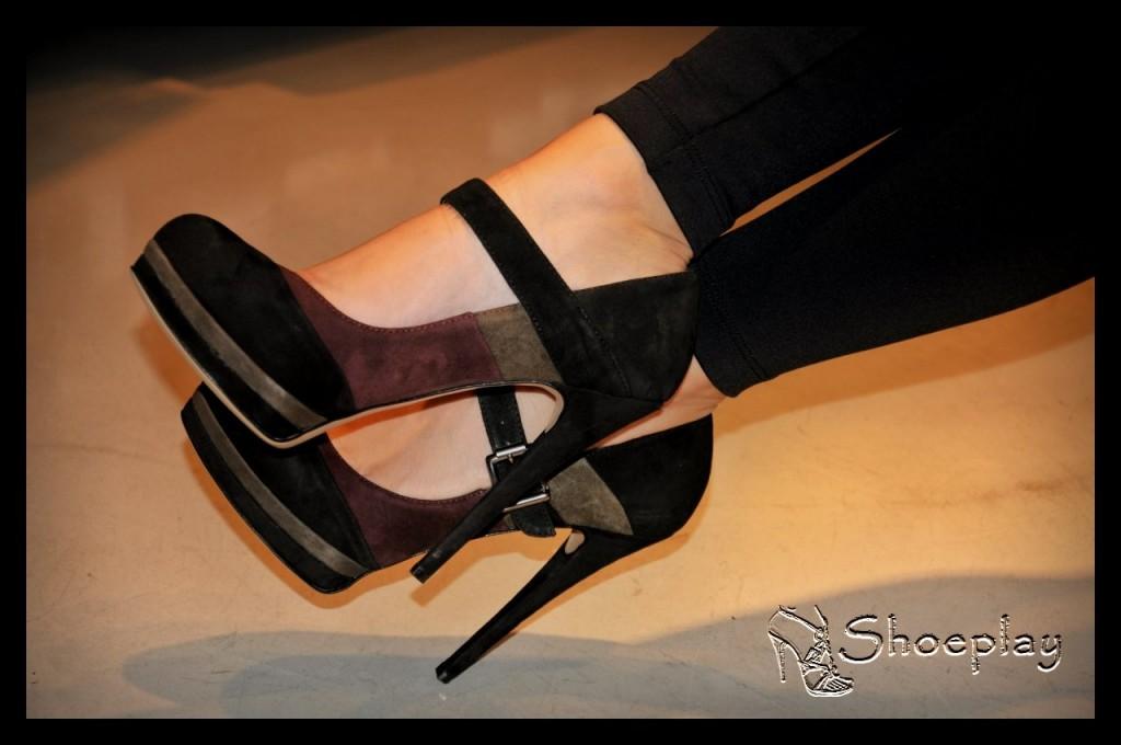 scarpe donna tacco alto cinturino camoscio plateau altissimo