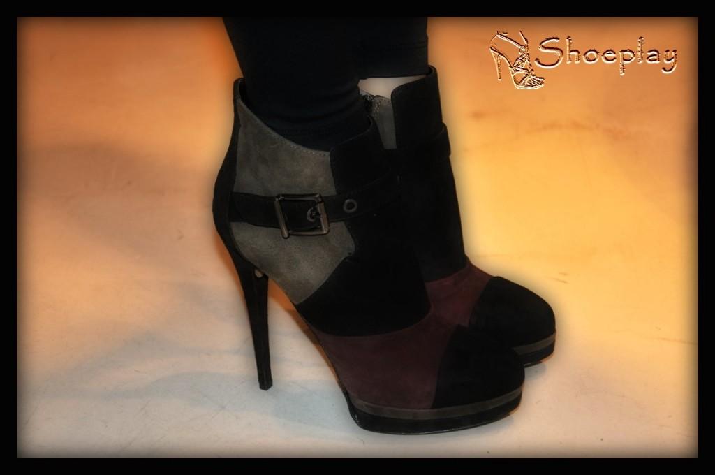 ankle boots camoscio tacco altissimo neri marroni