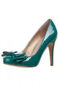 scarpe ottanio tacco alto petrolio