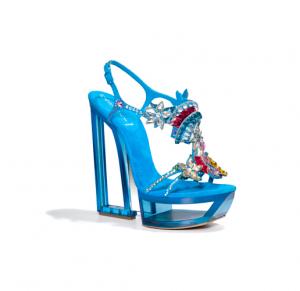 sparling contrasts la rinascente milano 2012 sandali tacco altissimo casadei azzurri