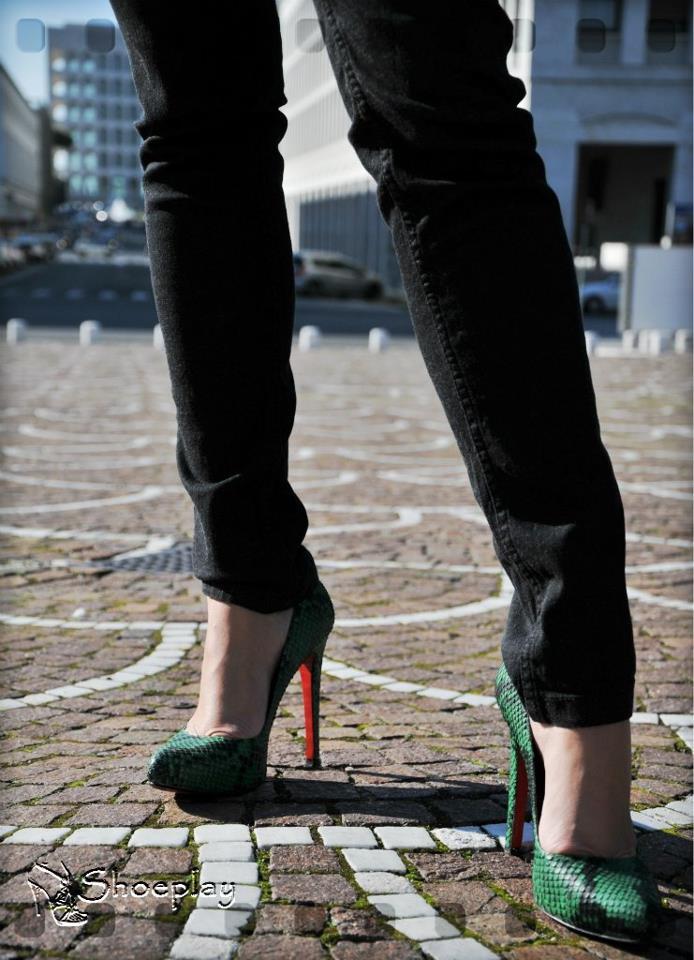 scarpe verdi smeraldo low cost tacco alto