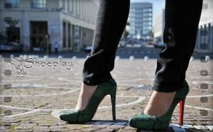 luzzi shoes scarpe verde smeraldo pitone